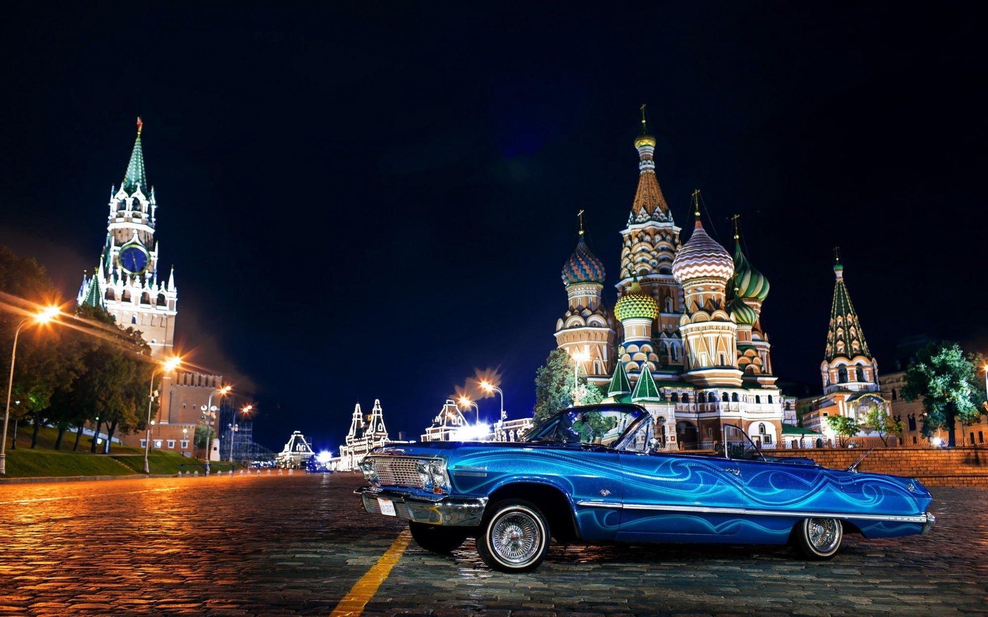 chevrolet architecture travel church kremlin city cathedral outdoors river building water sky old chevrolet impala classic cars vintage cars old cars moscow