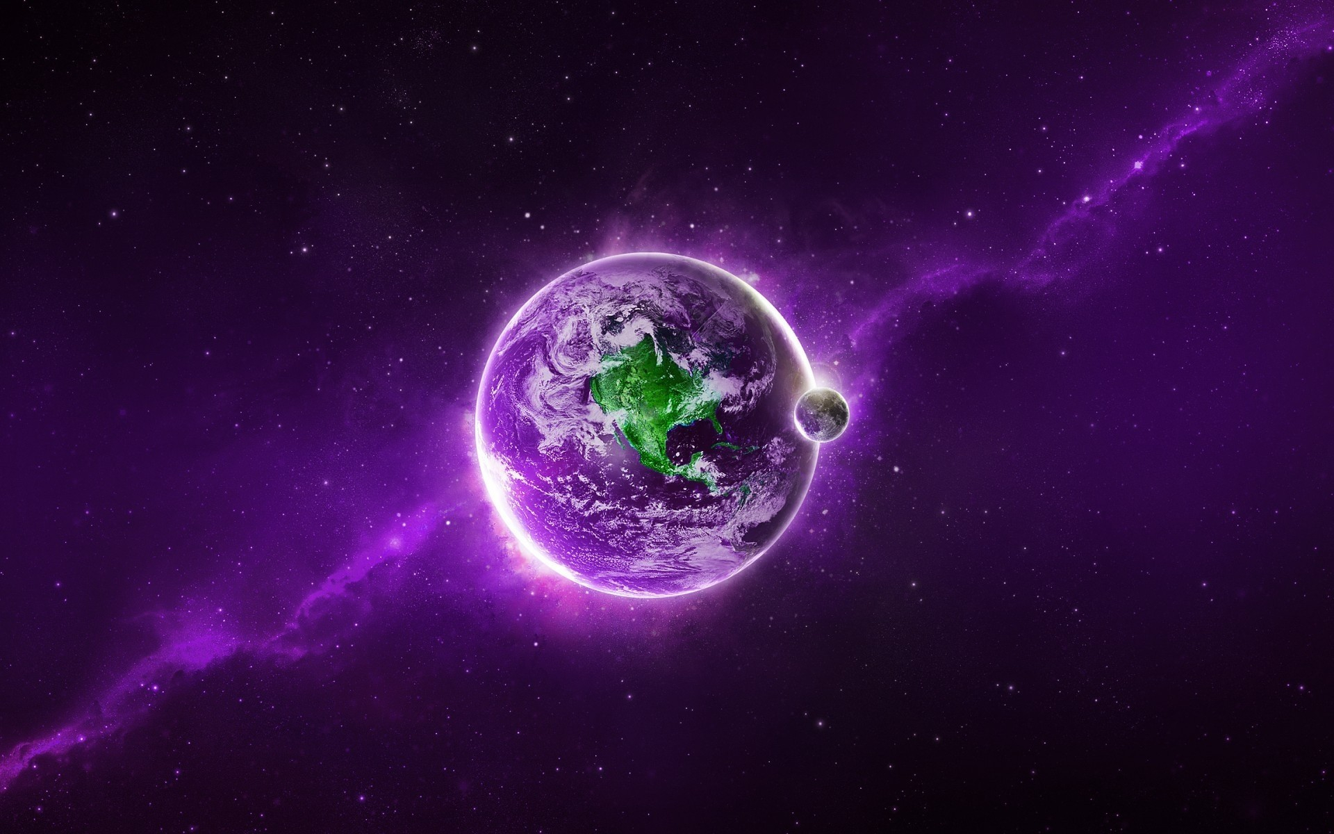Purple Space Planet Phone Wallpapers