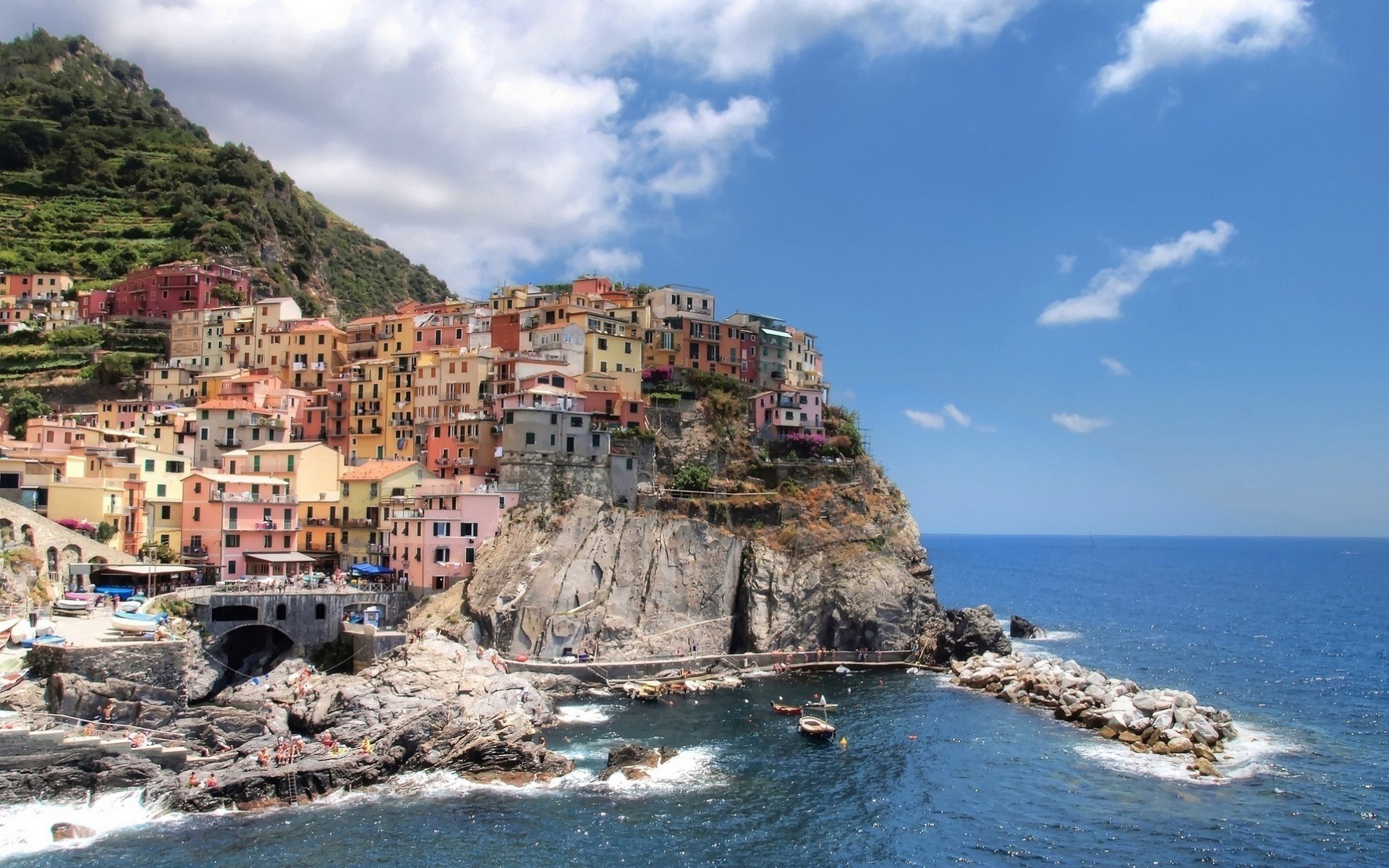 italy seashore sea travel water beach town ocean city architecture sight tourism sky seaside coastal bay vacation summer shore landscape cinque terre manarola gorgeous