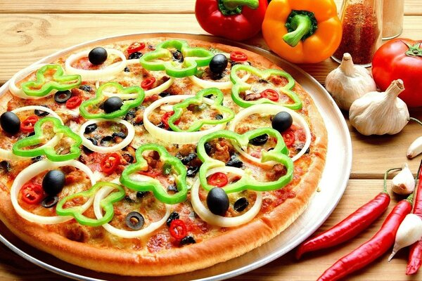 bell pepper food pizza, Food pizza garlic