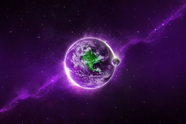 Purple Space Planet