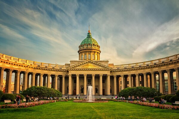 Beautiful Kazan Cathedral St. Petersburg