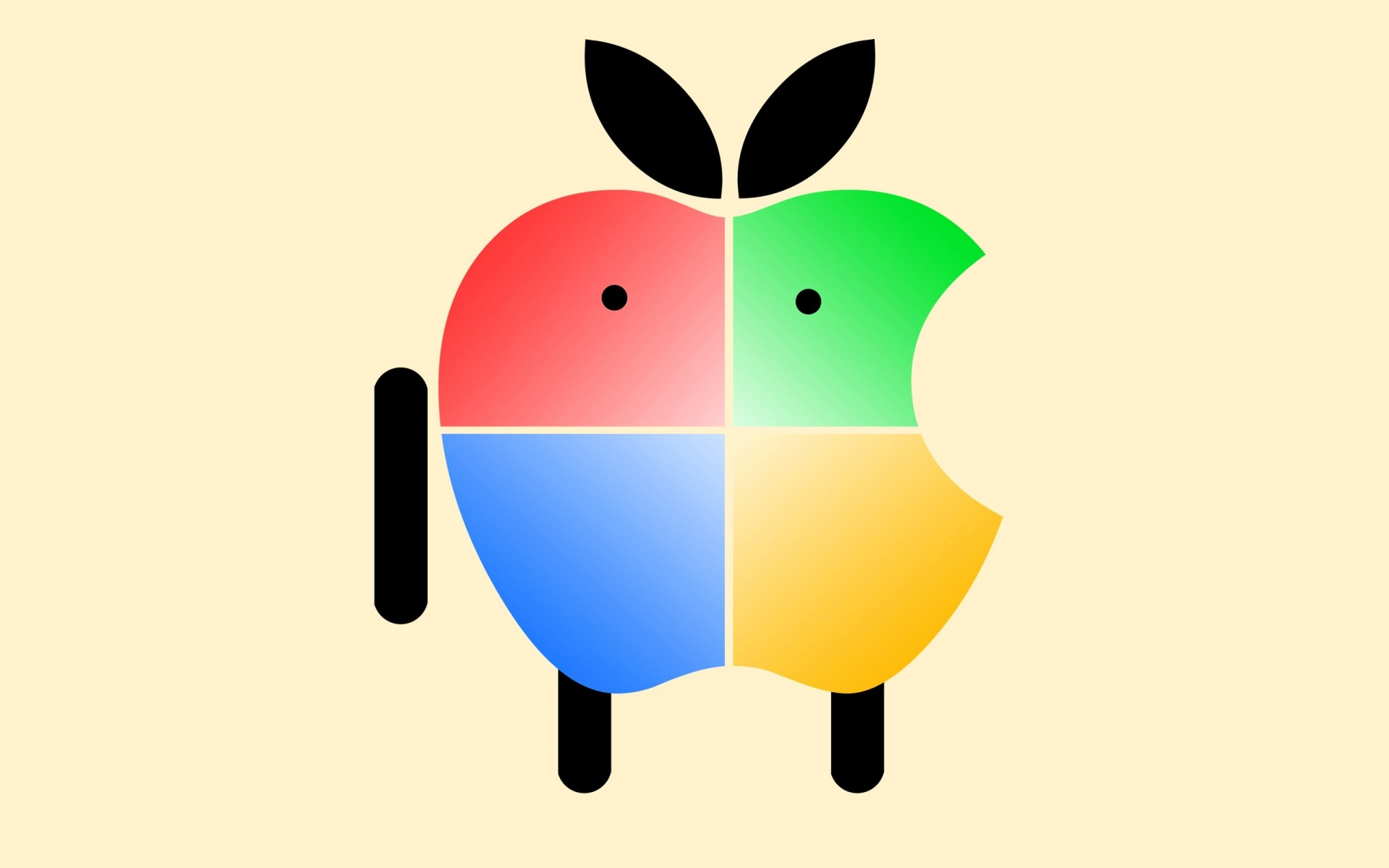 apple illustration symbol vector graphic image desktop design android mascot apple mascot funny tech technology