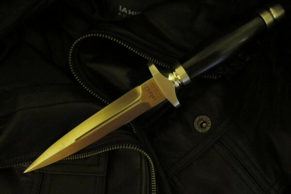 button the jacket pocket Dagger ebony steel