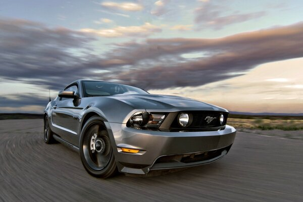 Gray Ford Mustang GT