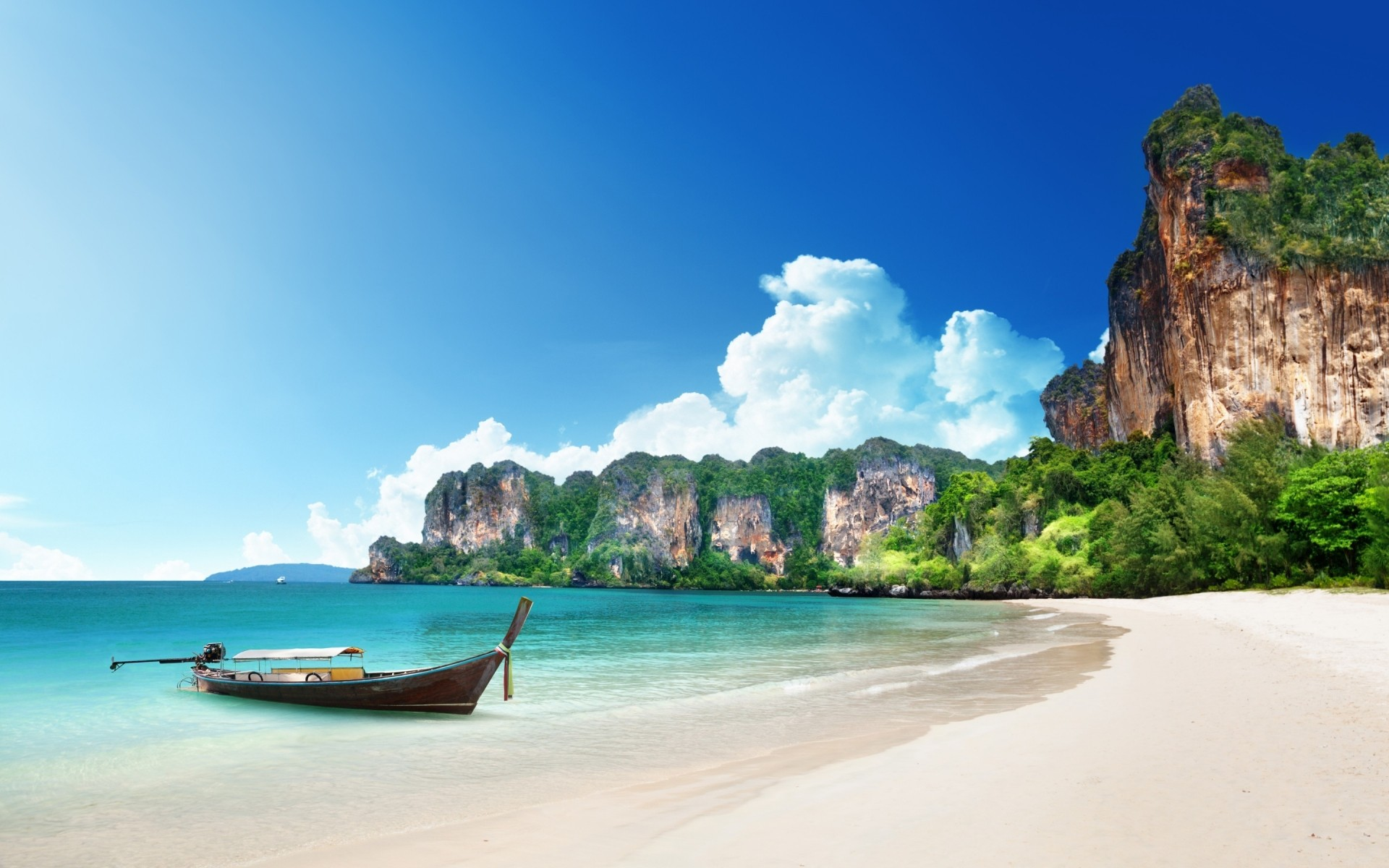 landscapes seashore travel beach water tropical island sand turquoise ocean idyllic vacation summer sea seascape bay exotic relaxation nature paradise boat landscape