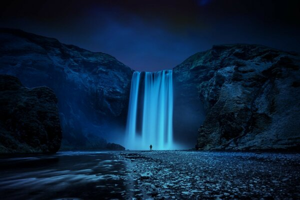 Beautiful Skogafoss Waterfall