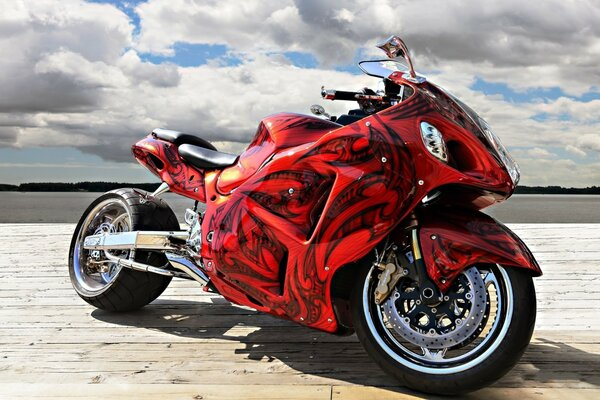 Gorgeous Red Motorcycle