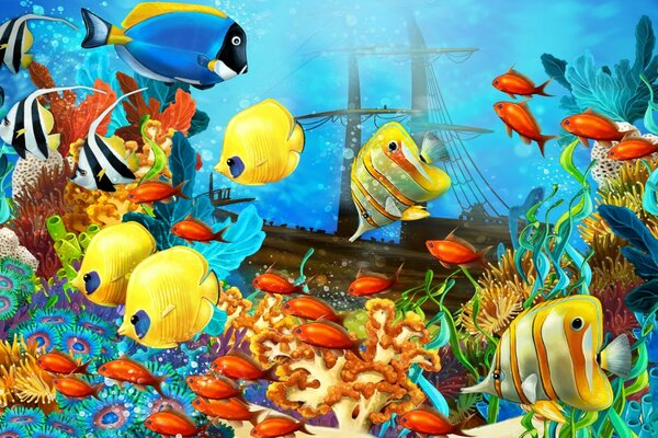 Fish World Painting