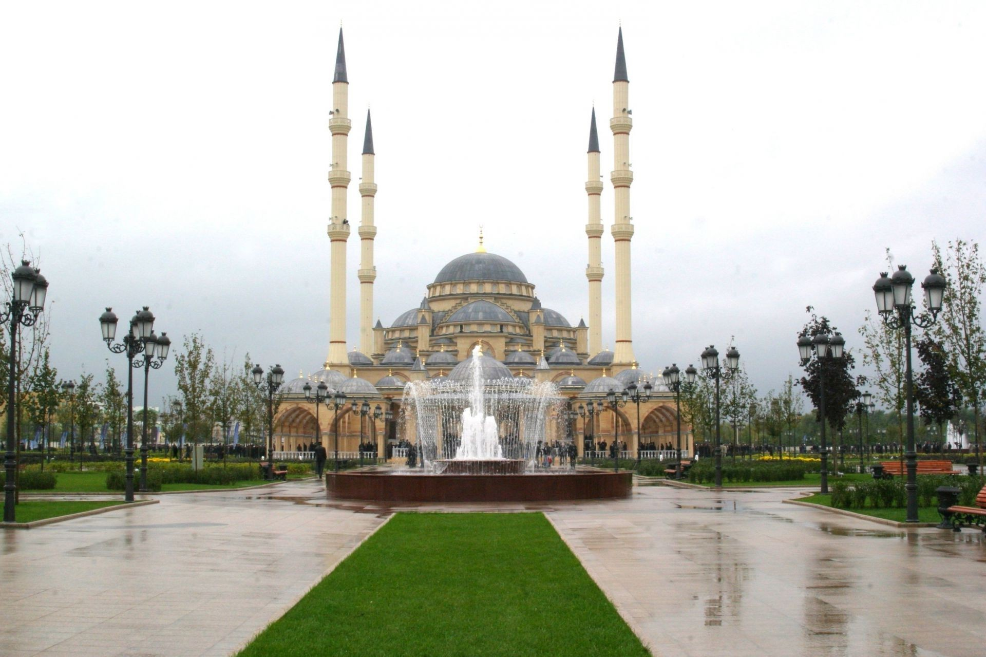 the city of fountain heart of Chechnya mosque, Grozny, Chechnya the Czech Republic