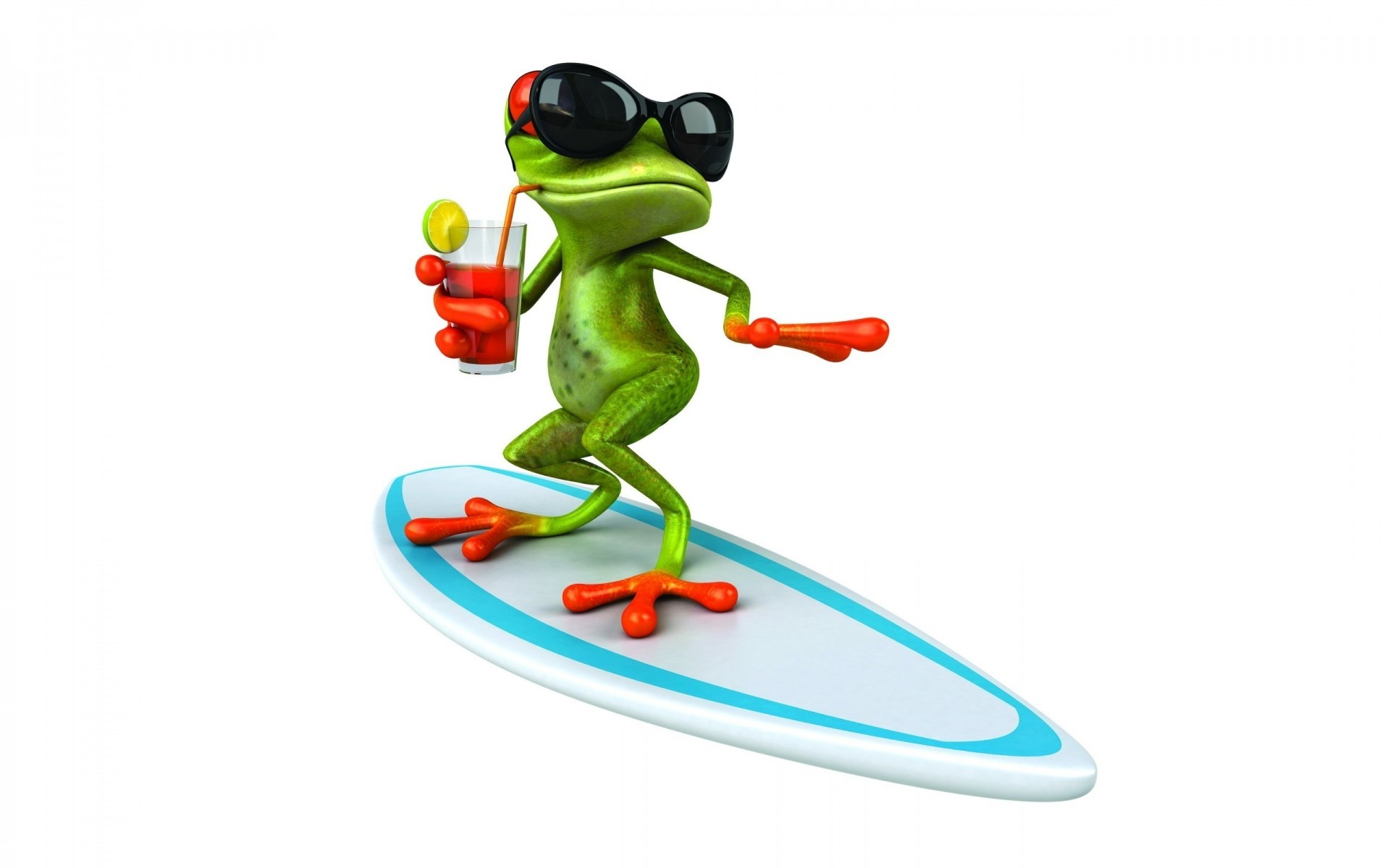 3D Frog Surfing. Android Wallpapers For Free