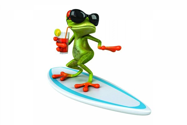 3D Frog Surfing
