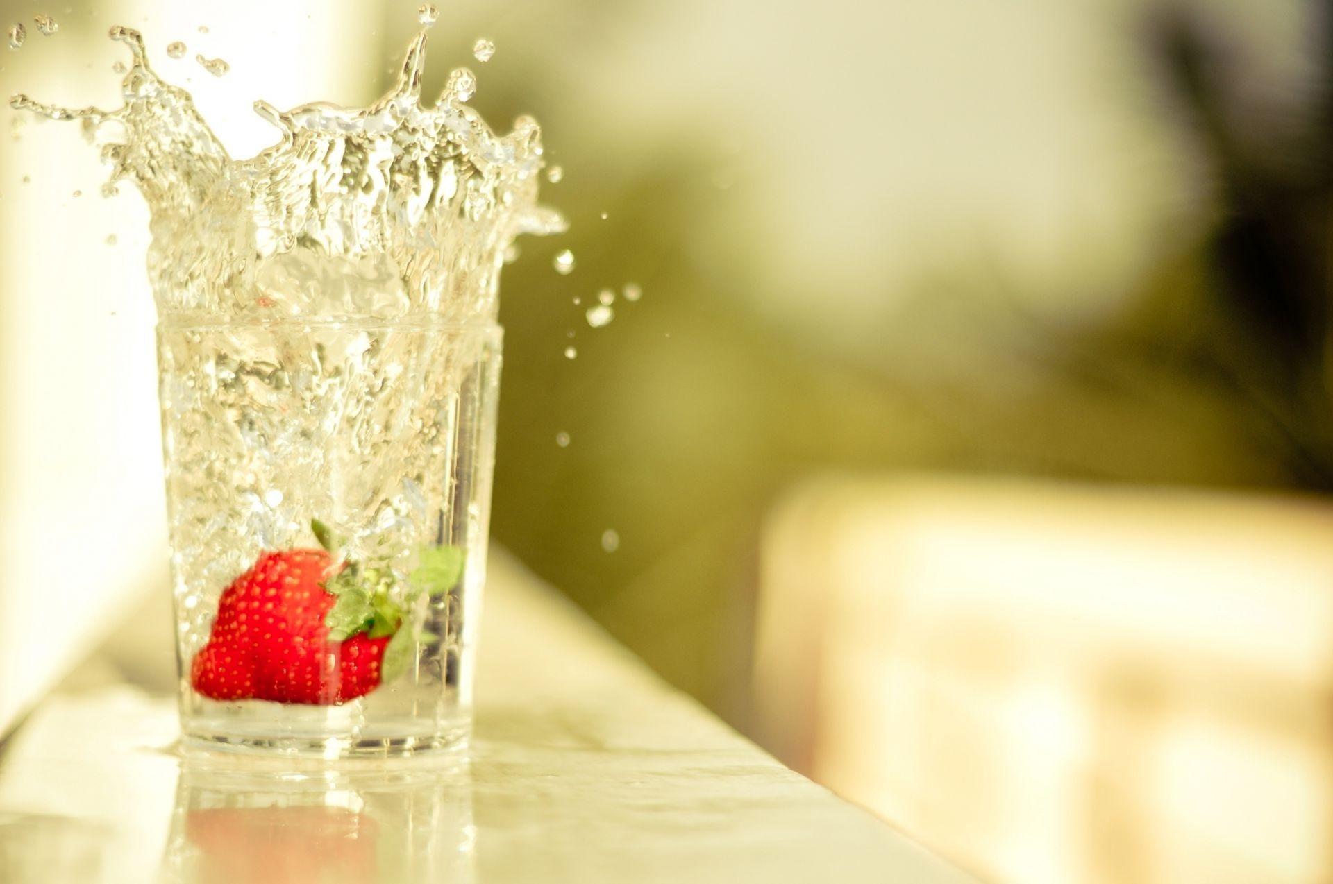 food & drink glass ice fruit food drink cold water blur refreshment sweet strawberry wet