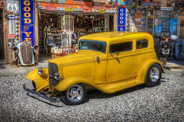 Classic Yellow Ford