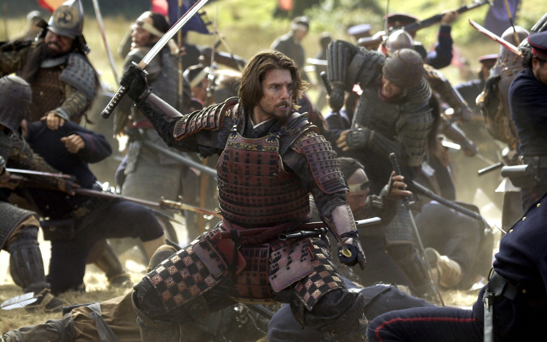 movies armor military weapon war battle soldier combat army many festival group helmet shield man uniform knight warrior gun tom cruise the last samurai