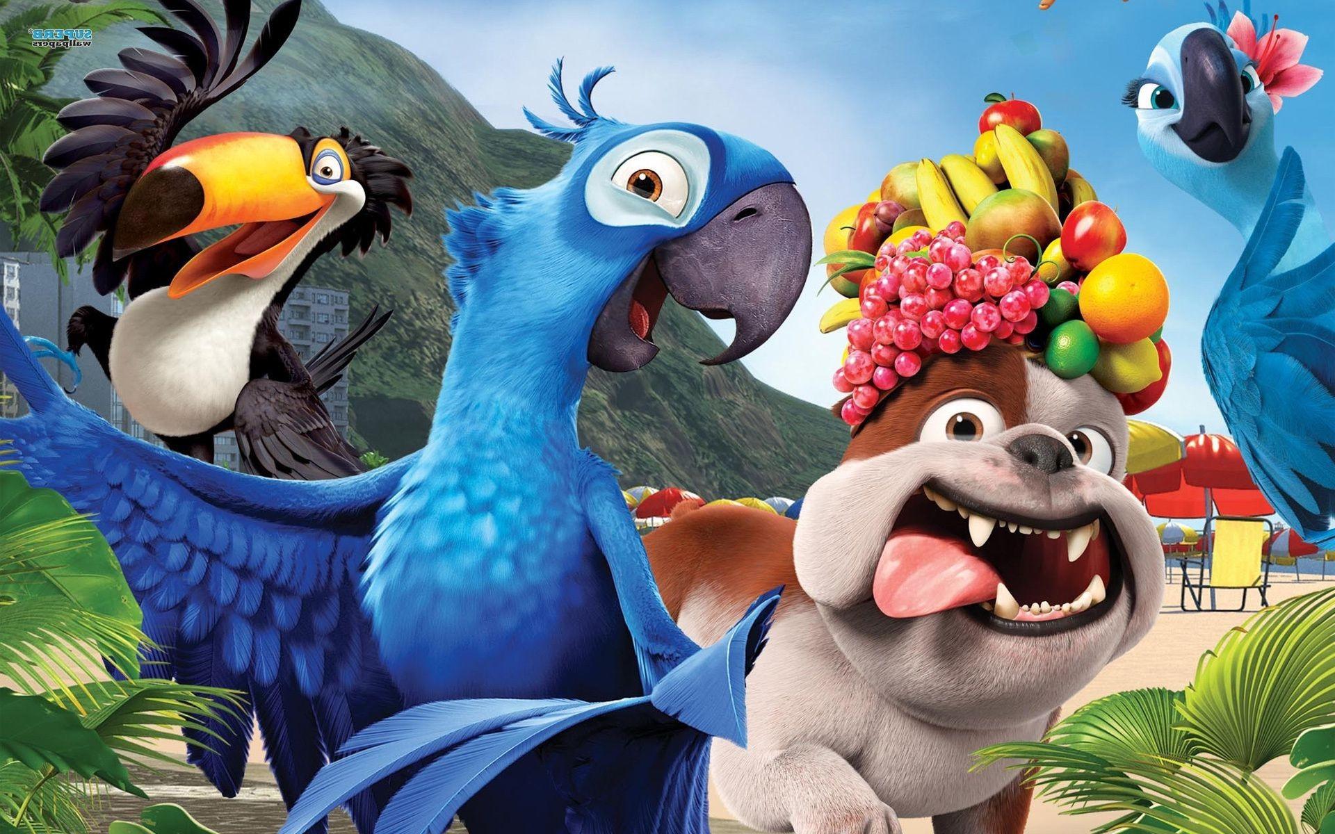 Fruit Parrots Rio Dog Cartoon Rio Phone Wallpapers