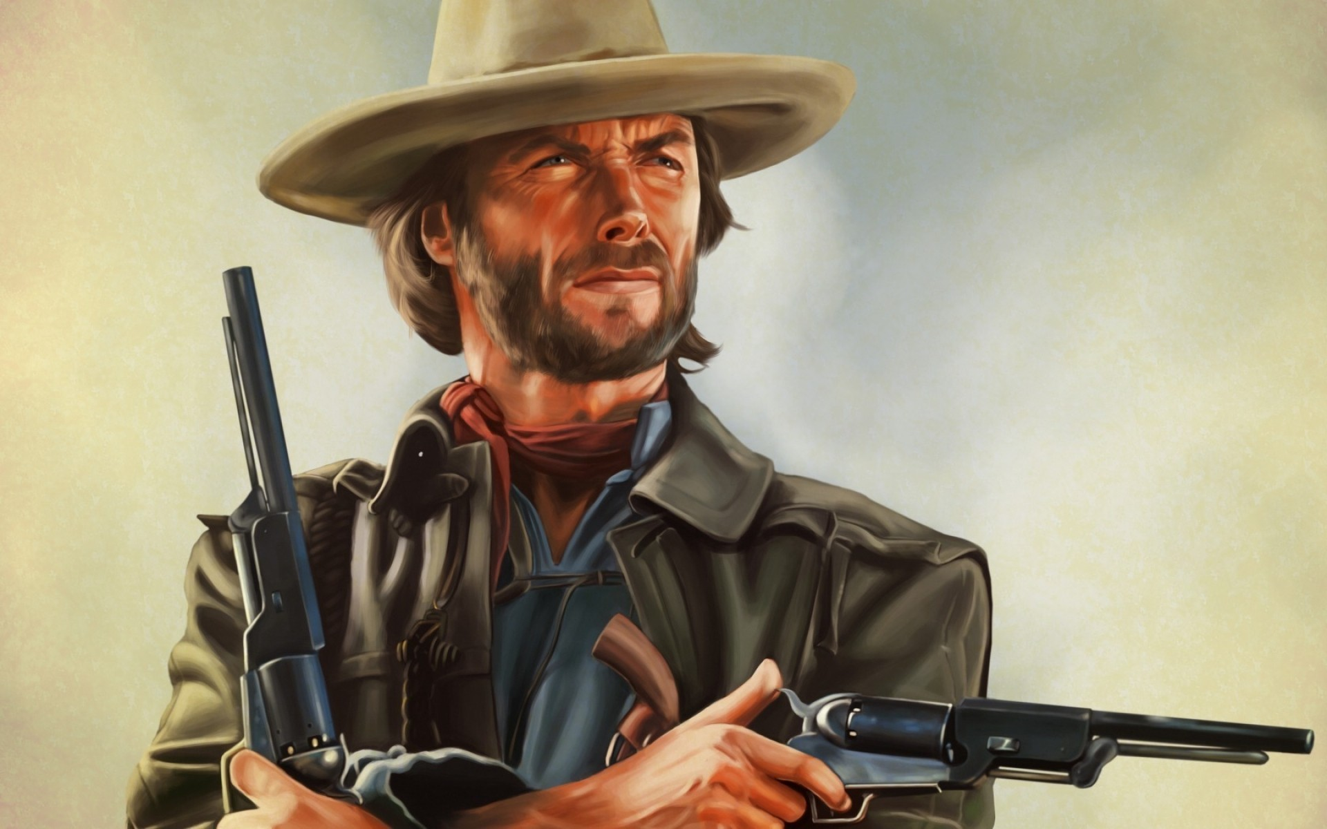 Clint Eastwood Artwork   Phone wallpapers