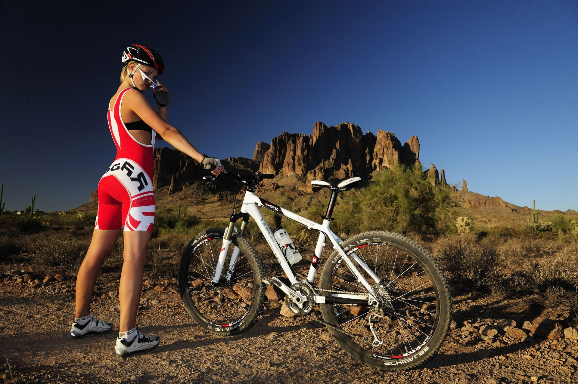 Cross Country Mountain Bike Girl IPhone Wallpapers For Free