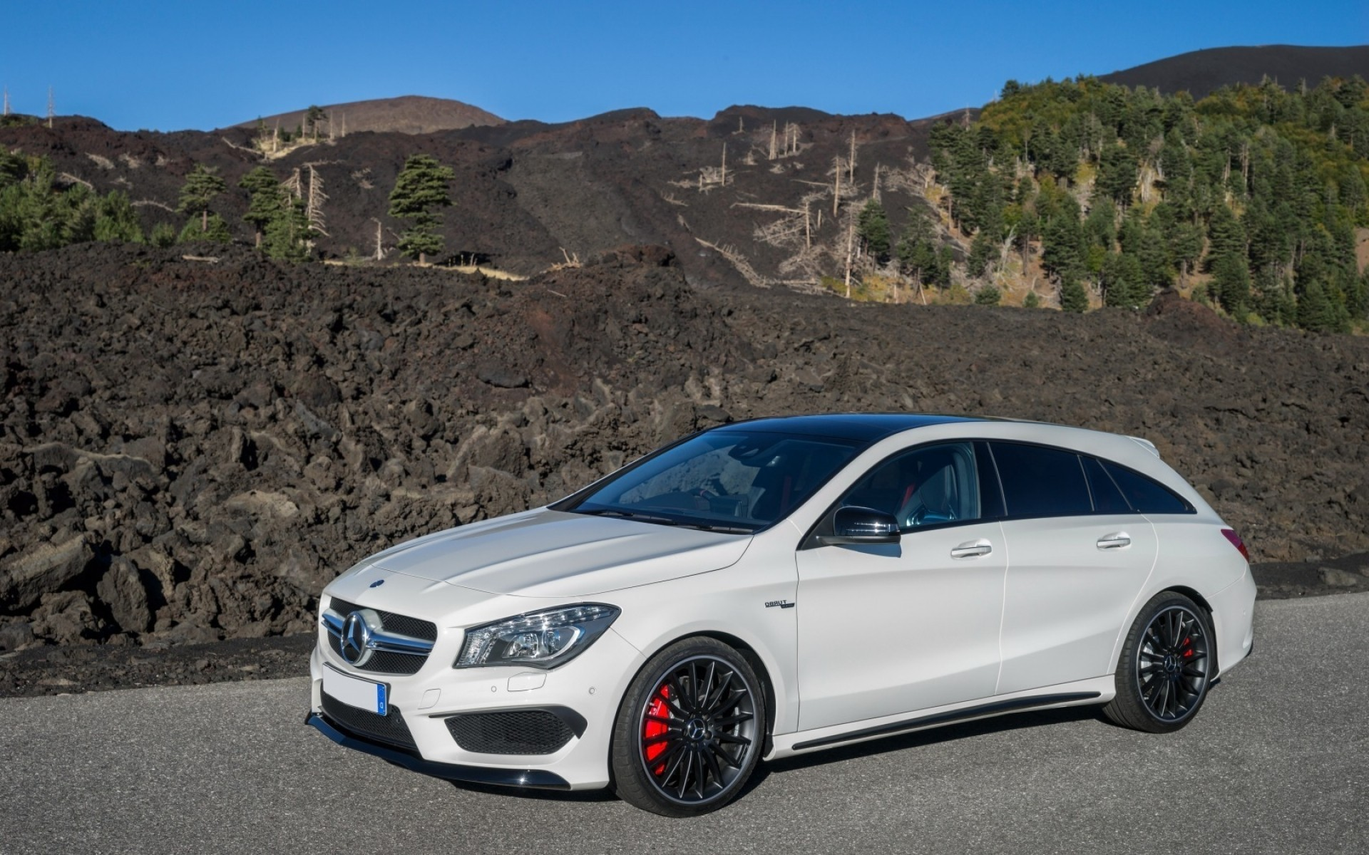 mercedes-benz car vehicle noon blacktop pavement transportation system hurry mercedes cla 45 amg