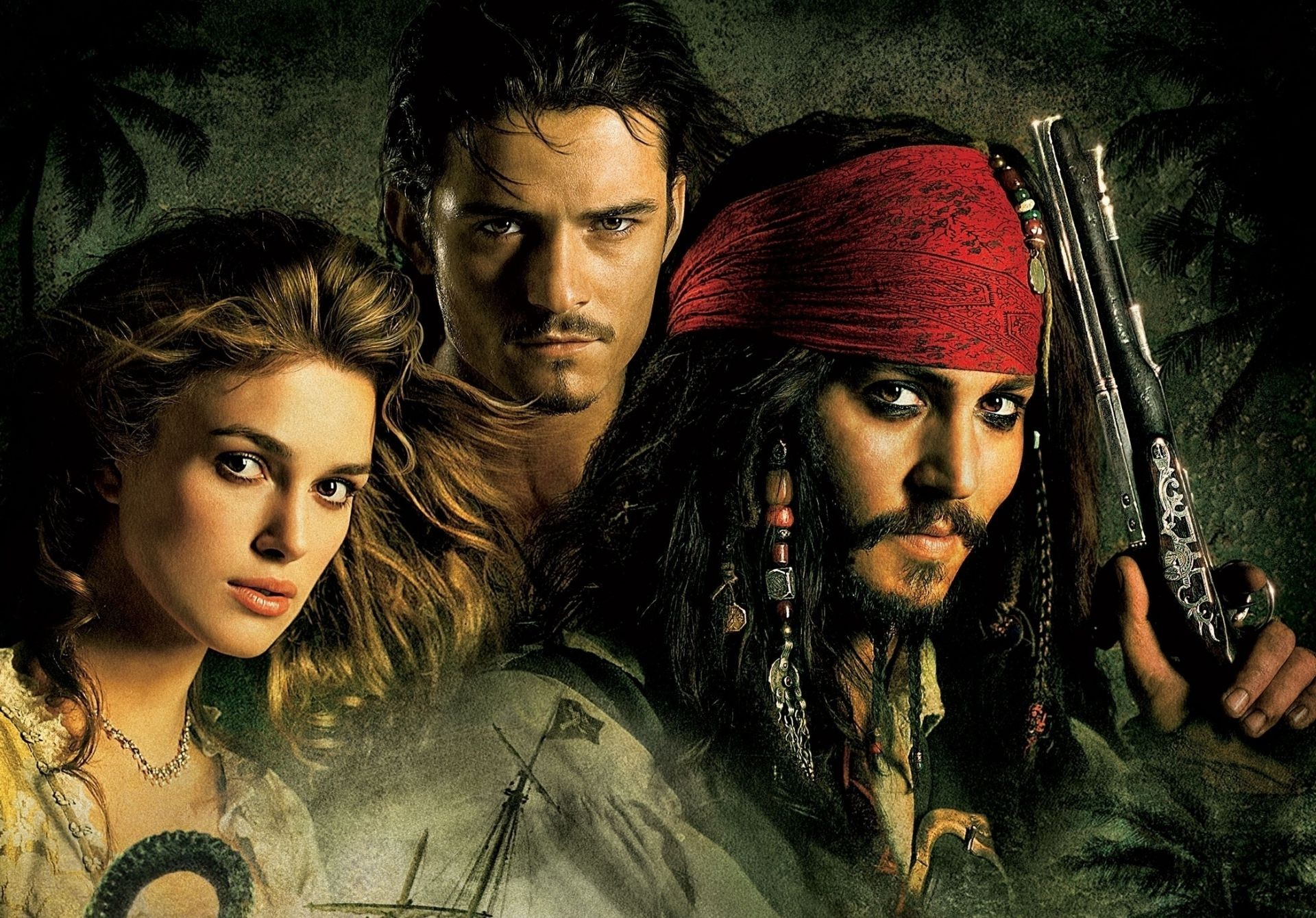 the curse of the black pearl pirates of The caribbean