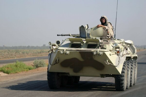 road war soldiers army Iraq BTR-80