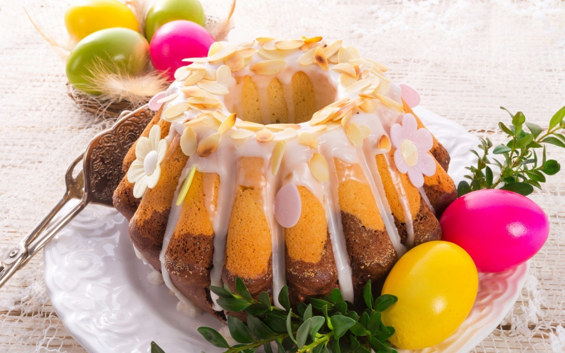 easter food delicious sweet chocolate cake traditional sugar celebration close-up epicure plate fruit refreshment decoration tasty pastry