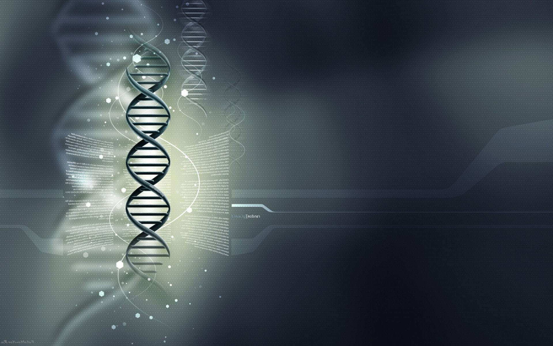 Gray background, DNA, dnk, medical Wallpaper genes