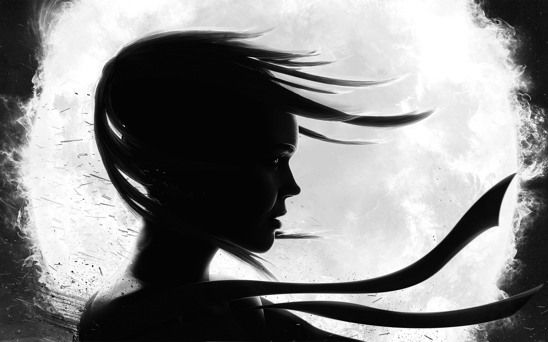 Black And White Girl Free Wallpapers