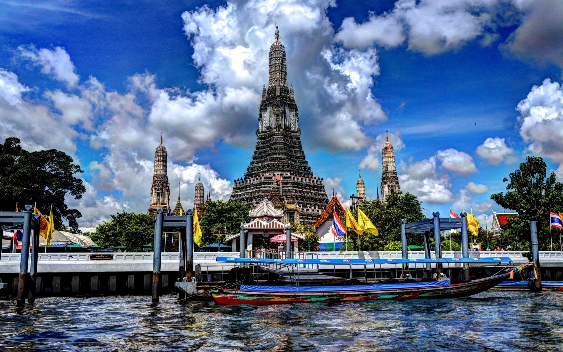 other city architecture travel sky building river water city temple outdoors tourism dusk religion sunset landmark bangkok thailand atraction