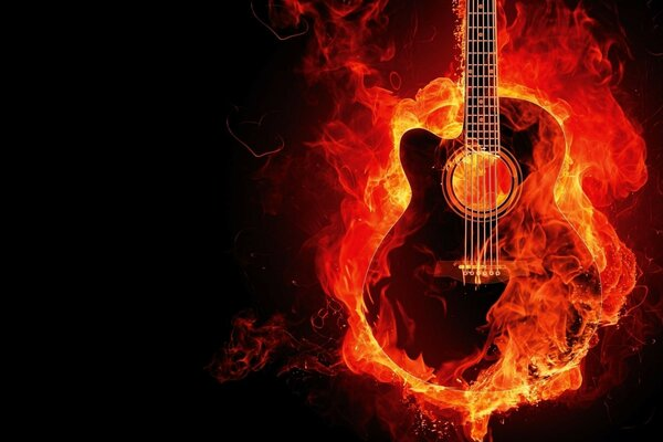 background fire Guitar