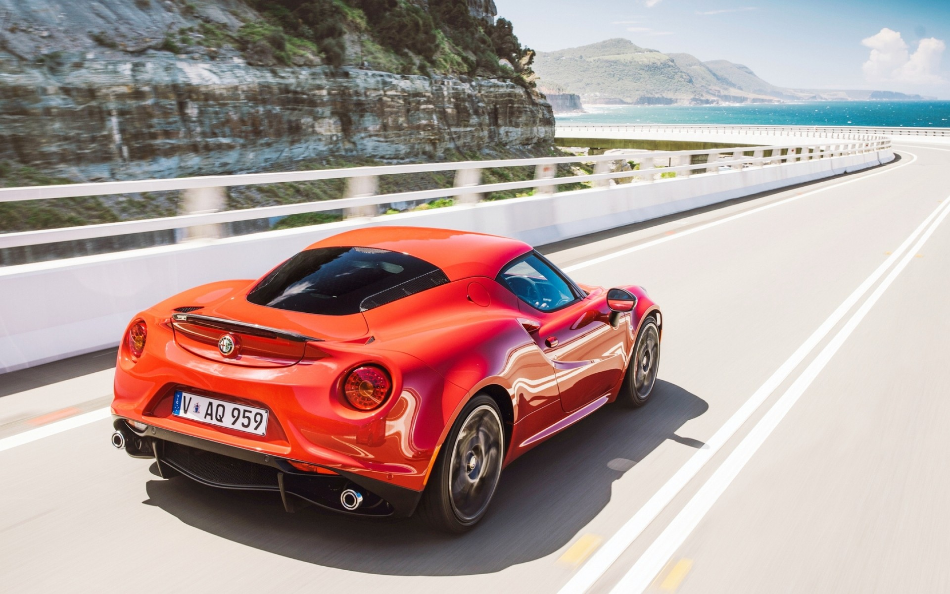 Alfa Romeo 4c Highway Android Wallpapers
