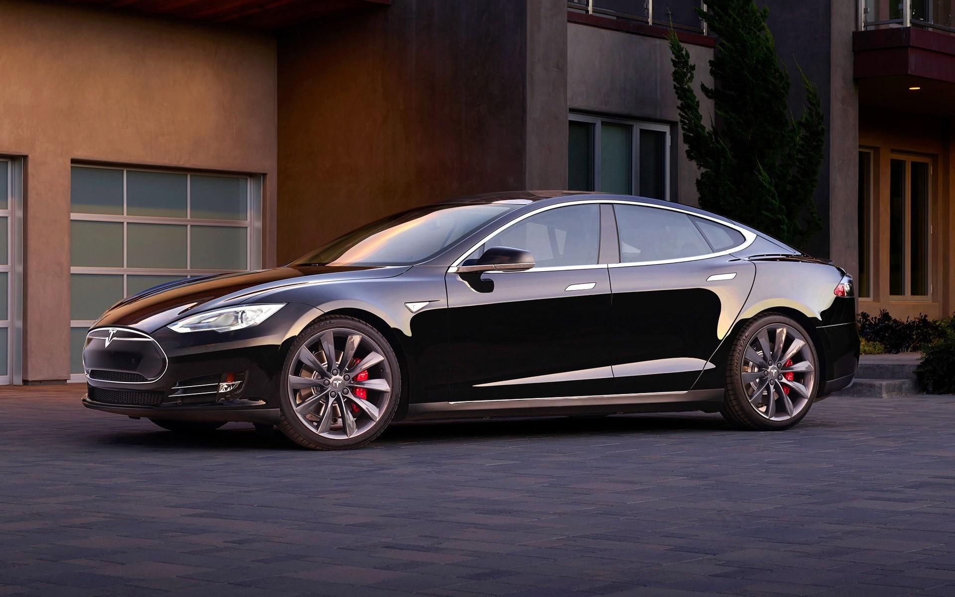 Black Tesla Model S Dual Motor IPhone Wallpapers For Free