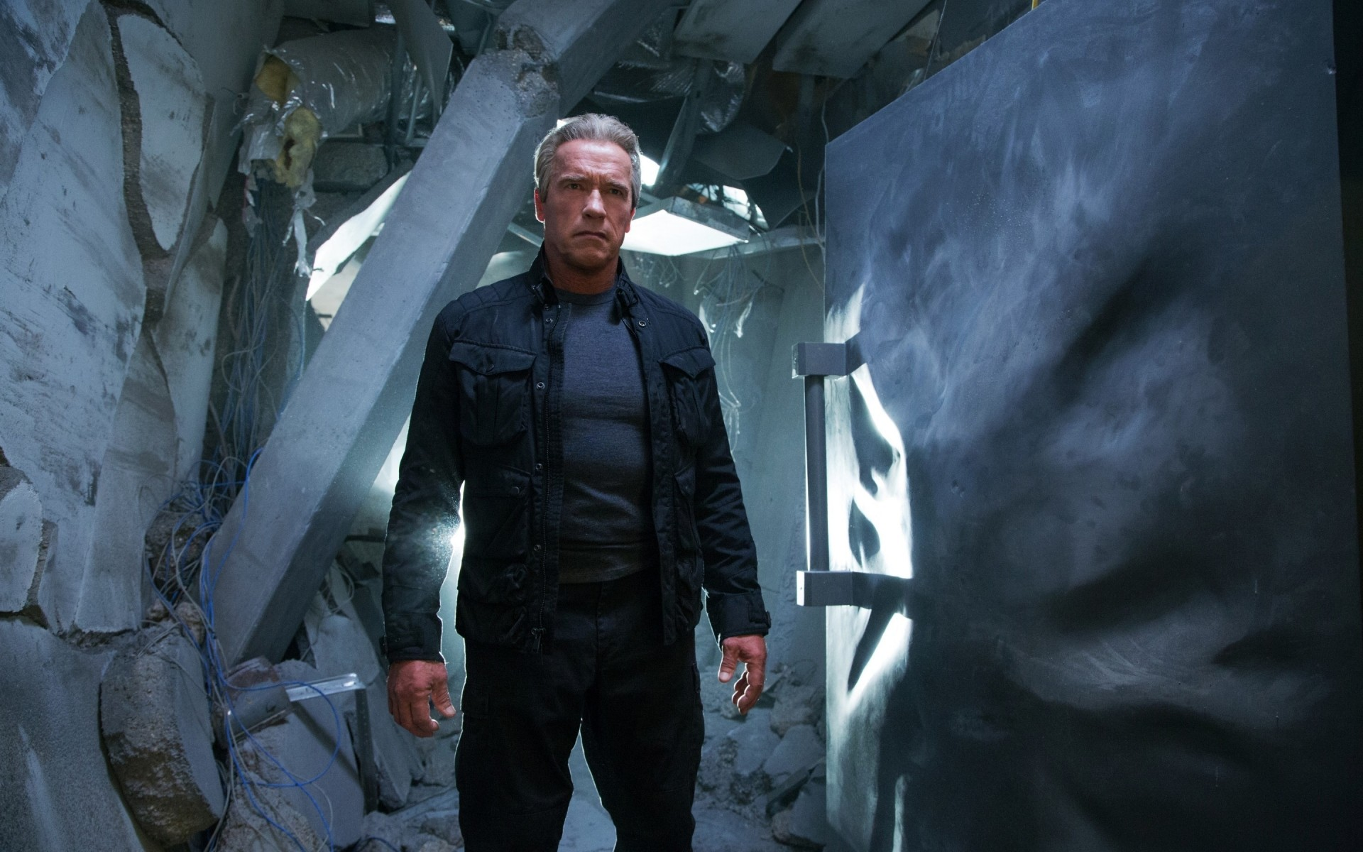 terminator genisys arnold schwarzenegger. android wallpapers for free.