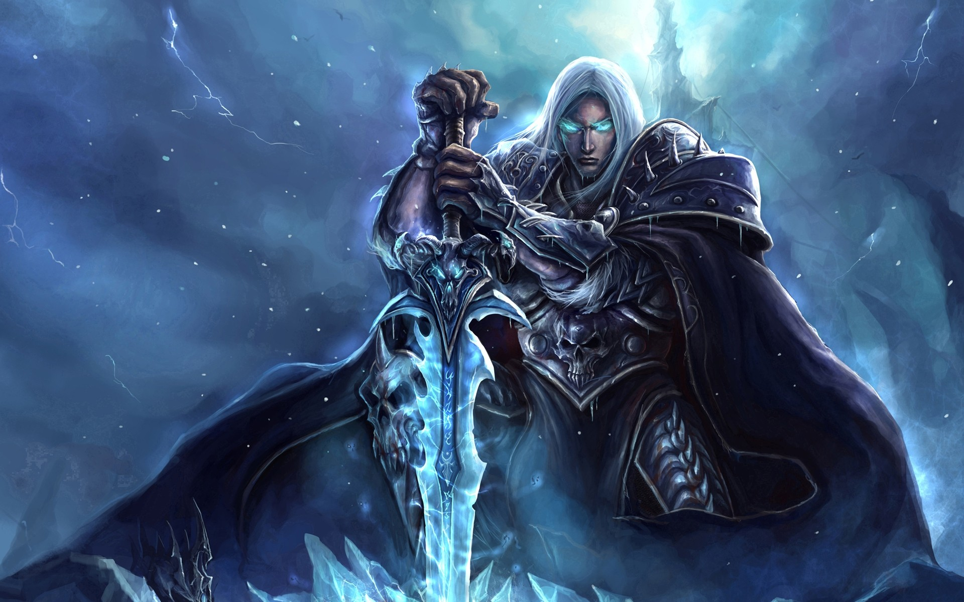 World of Warcraft Lich King Art - Android wallpapers