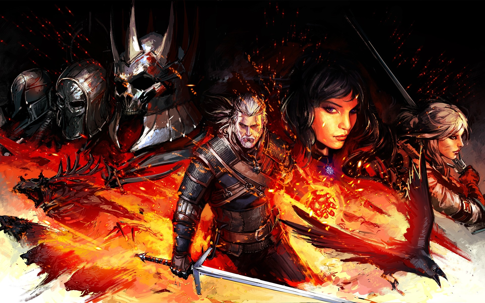 The Witcher 3 Wild Hunt Artwork Android Wallpapers
