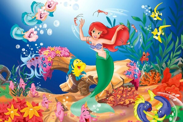 Ariel from cartoon the little Mermaid