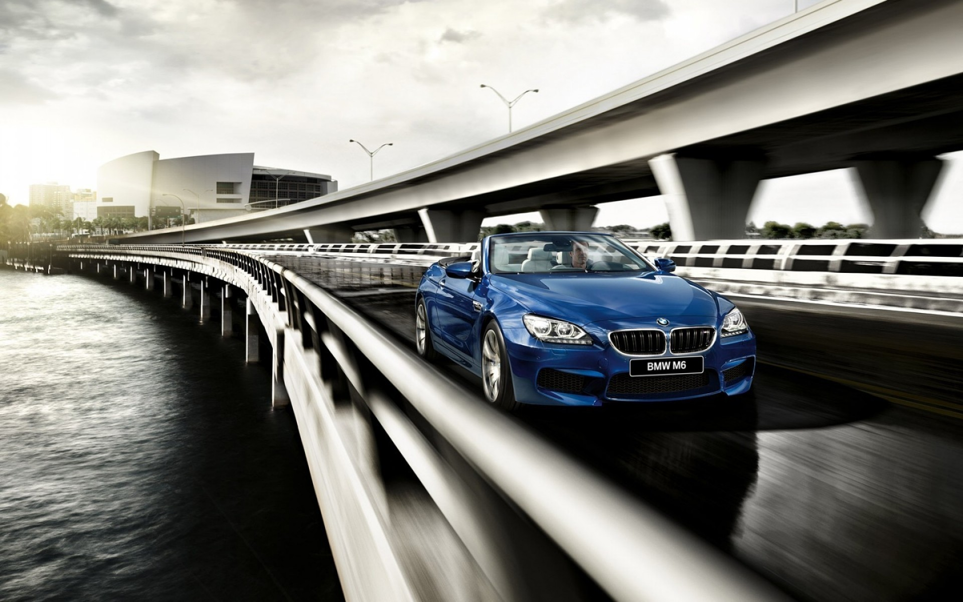 bmw transportation system blur travel bridge car street