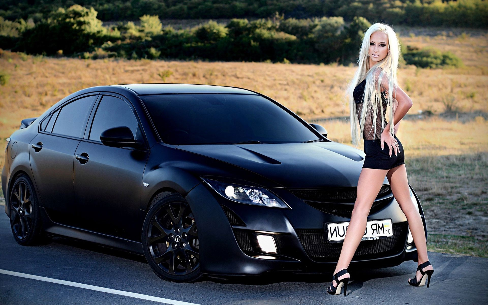 cars and girls woman fashion car girl model sexy portrait vehicle outdoors