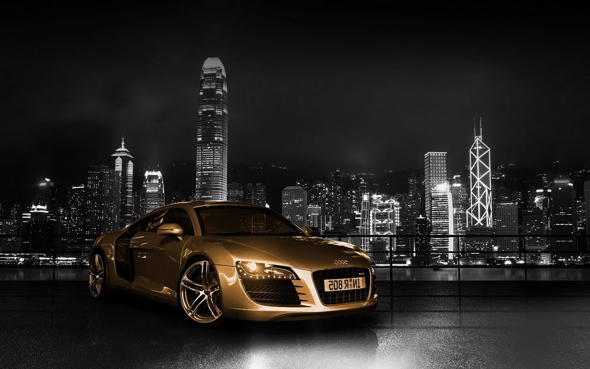 tuning city car street travel monochrome skyline urban architecture downtown cityscape sunset building light road