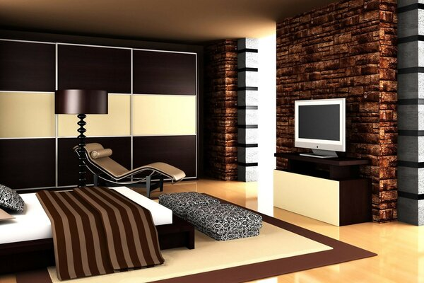 home comfort apartment interior fireplace kitchen bedroom Gostiny