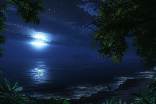 The night the moon and the sea - here it is romance