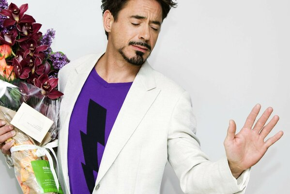 Flowers Actor actor robert downey jr Robert Downey mladsi