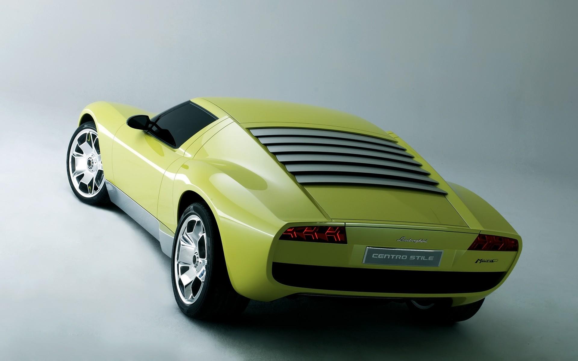Lamborghini Miura Concept Rear Iphone Wallpapers For Free