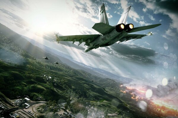 fighter planes battle game Battlefield 3 aviation