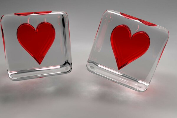 Two loving hearts Valentine s day