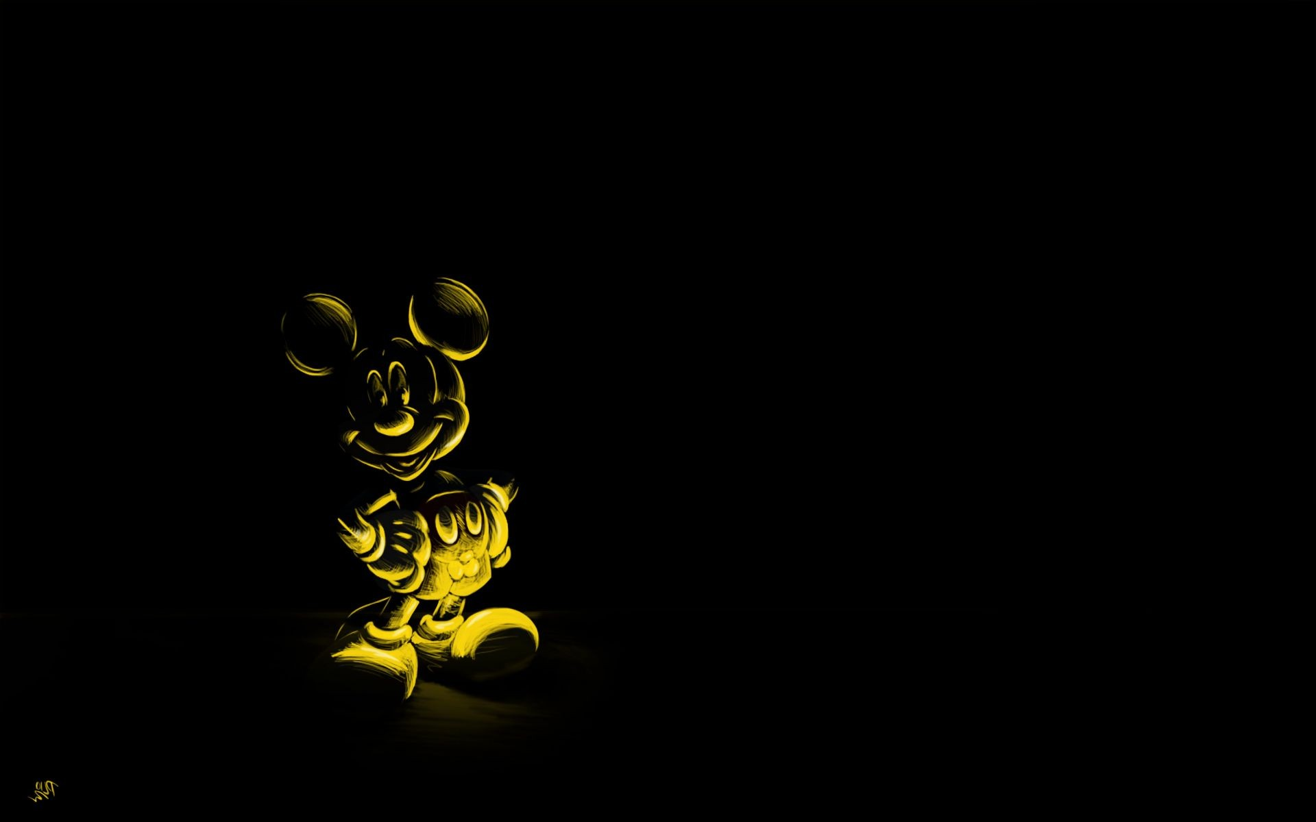 mouse Black background character Mickey mouse cartoon