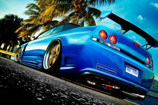 tuning r33 Nissan skyline photoshop