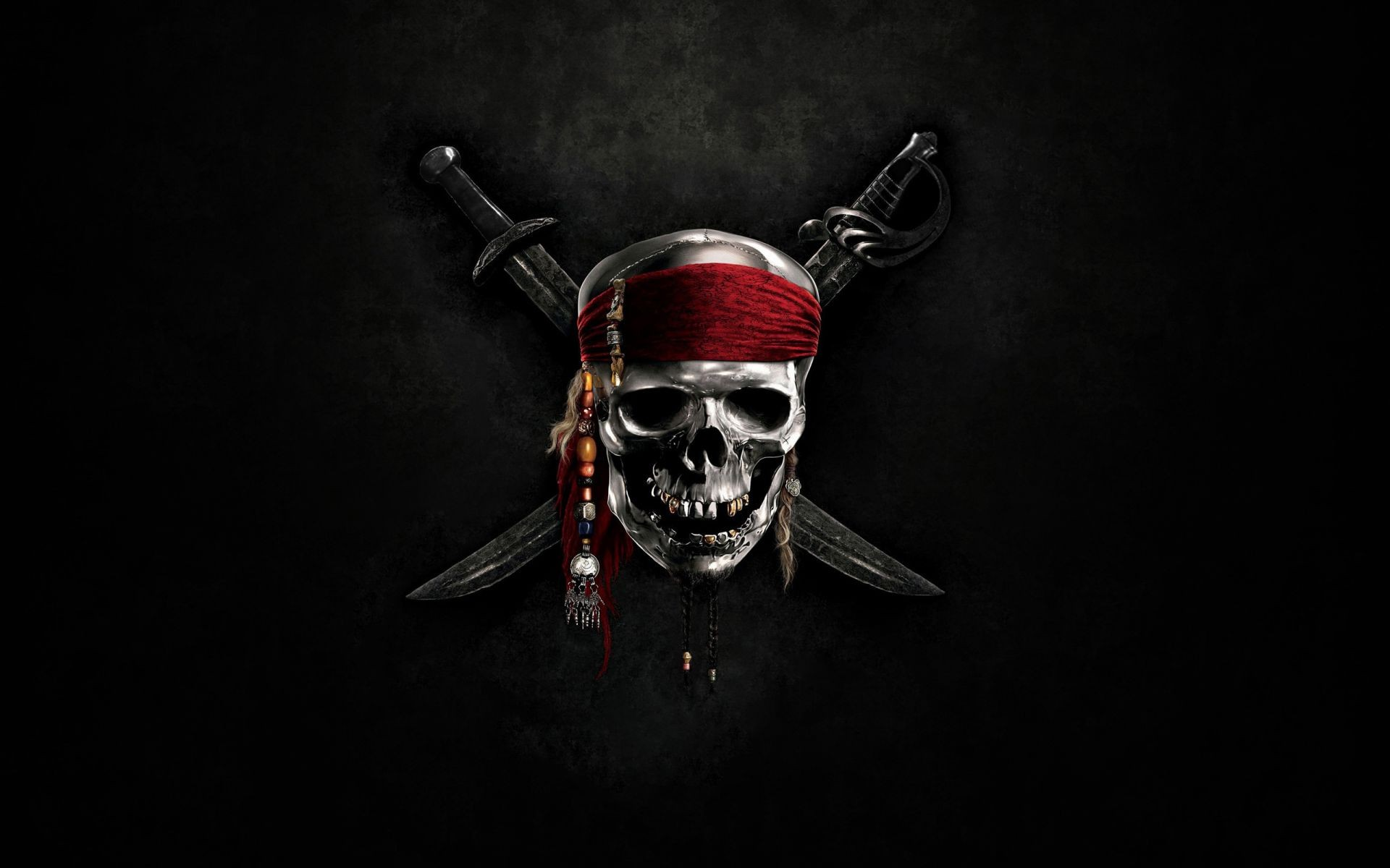 Swords Skull Pirates In The Caribbean Sea Android Wallpapers