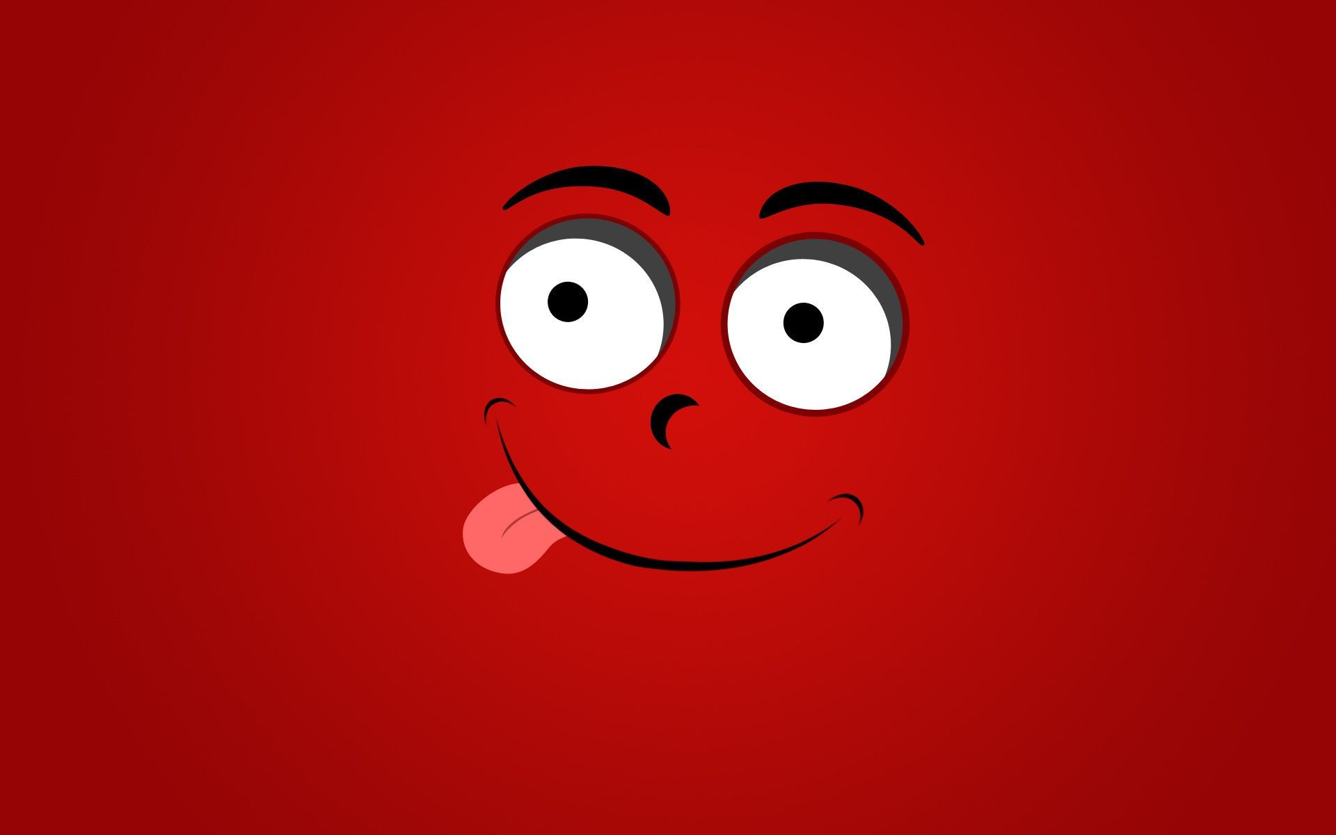 the language of smiley face background red Smile