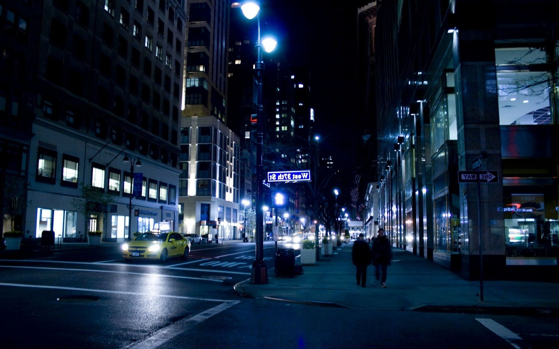 New York Nyc Night Street New York City Night Android Wallpapers